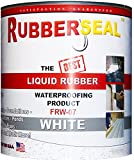 Rubberseal Liquid Rubber Waterproofing and Protective Coating -- Roll On WHITE 16 ounces (16 ounces)