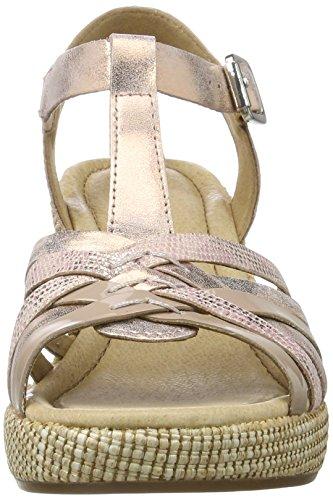 Gabor Shoes Comfort, Sandalias con Cuña para Mujer Naranja (lachs ba.st)