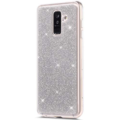 Etoile Bumper Bumper Rann Coque bao Paillette 2018 Silicone Galaxy Samsung J8 Protection Etui Glitter Housse Argent Hybrid Brillante Compatible Case Bling Pour bleu Tpu vvTq4n1w