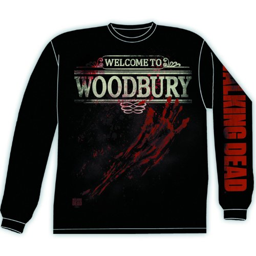 The Walking Dead Woodbury Schwarz Long Sleeve T-Shirt