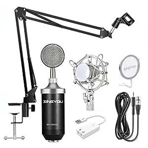 zingyou bm 8000 professional studio condenser microphone set xlr condenser mic. Black Bedroom Furniture Sets. Home Design Ideas