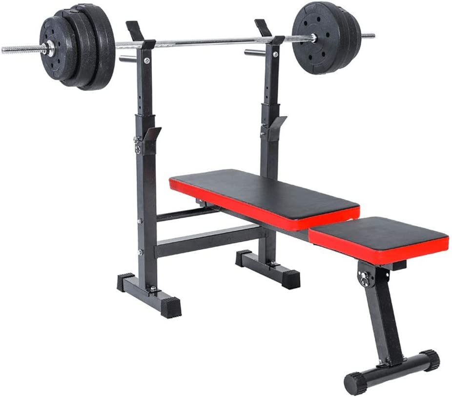 zhenxing Adjustable Weight Bench, Squat and Bench Rack, Bench Press bar, Home Gym Machine, Commercial Gym Equipment, 41.34 x 43.7 x 22.44in