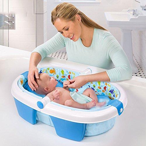 Baño Bañera Inflable Bañera Plegable Bañera para Bebés Bañera de Stent Azul hogar Material de PVC Ambiental...