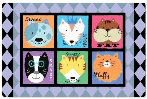 CounterArt Cat Personalities Pet Placemat