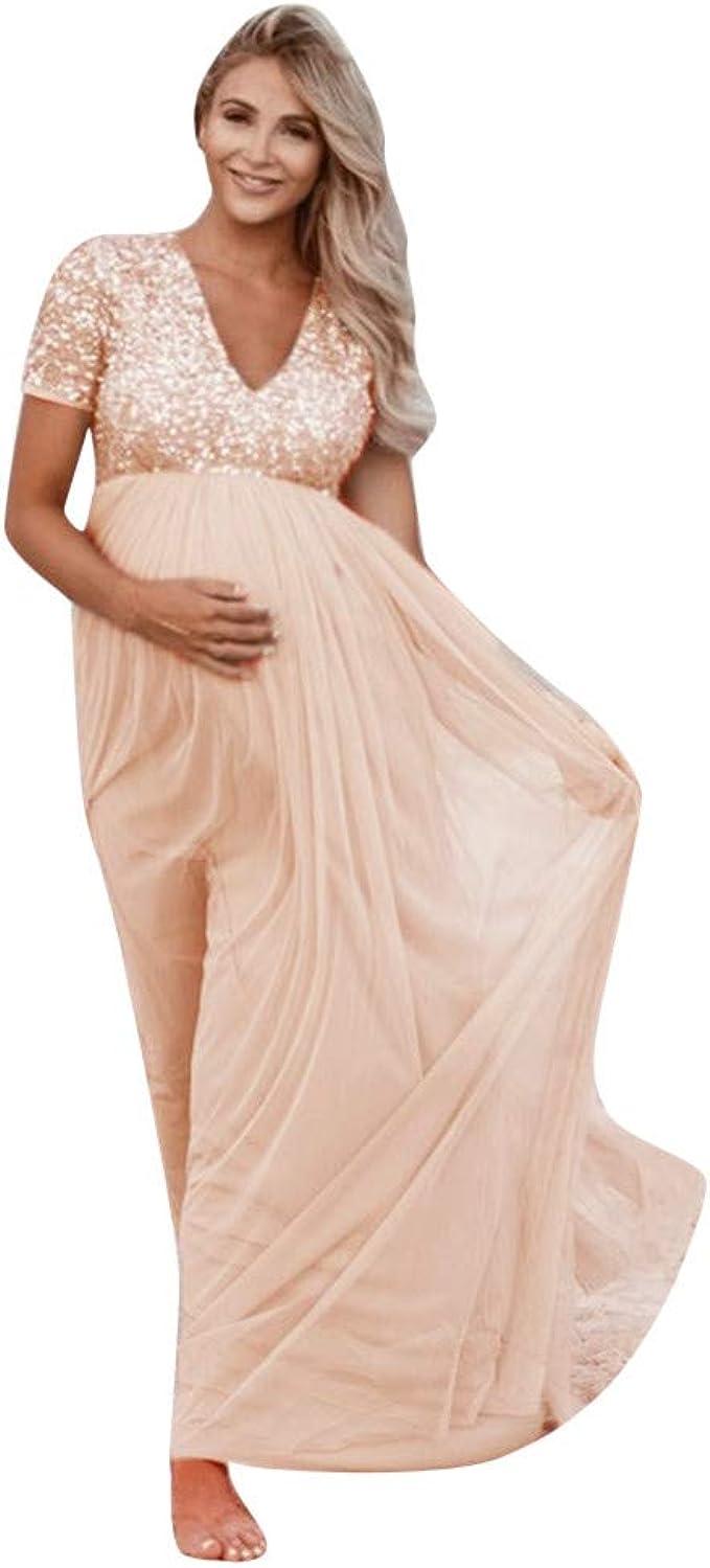 URSING Frauen Schwanger Maternity Jerseykleid Fotografie Aus der