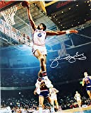 "76Ers Julius ""Dr. J"" Erving Signed 16X20 One Handed Dunk Photo - PSA/DNA Certified - Autographed NBA Photos"