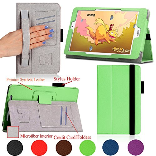 Stand Cover for Acer Iconia Tab 8 W1-810 8 Inch Green - 2