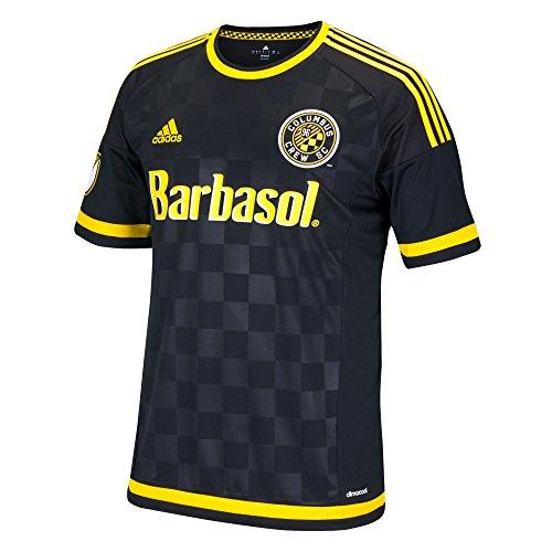 MLS Columbus Crew Wil Trapp #20 Men's Replica Short Sleeve Player Jersey, Black, Large