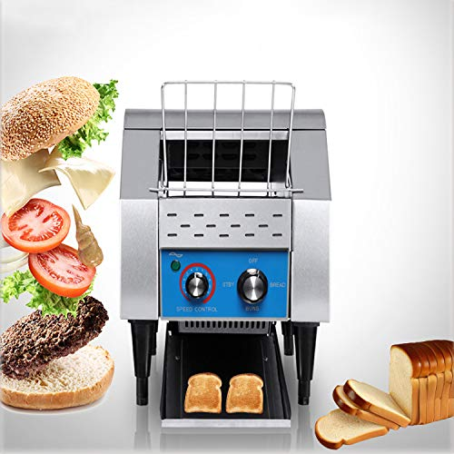 Commercial Conveyor Toaster, 110V 1350W, Food Grade Stainless Steel Material, 200 Pcs/H Conveying Speed, for Bakeries…