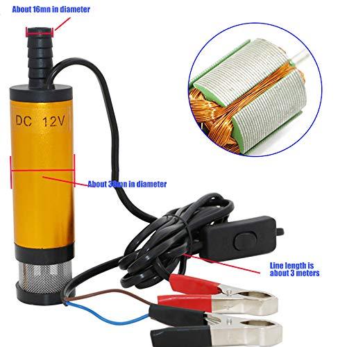 Sumtm 12 V 38 mm Pompa sommergibile Acqua Olio Carburante Pompa di trasferimento Pompa per Auto Marina Barca