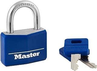 product image for Master Lock 142DCM Covered Aluminum Keyed Padlock, 1-Pack, Blue