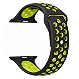 Apple Watch Band Series 1 Series 2 Series 3 - FanTEK Soft Silicone Sport Style Replacement iWatch Strap for Apple Wrist Watch 42mm Models M/L Size