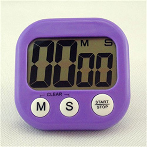 Kitchen Big Timer Countdown Large Digits Purple - 9