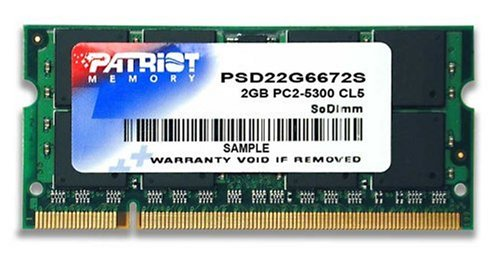 Patriot PSD22G6672S Signature PC2-5300 DDR2 667MHz 2GB SODIMM CAS 5 Module ()