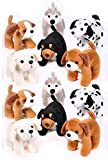 12 Pack of Stuffed Dog Animal Toys Made of Soft Plush Variety Pack