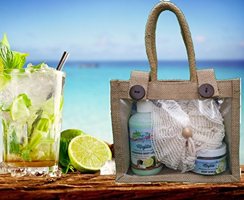 Island Essentials 3-Piece Gift Set -Mojito scented with fresh squeezed, Florida key limes and fresh mint!