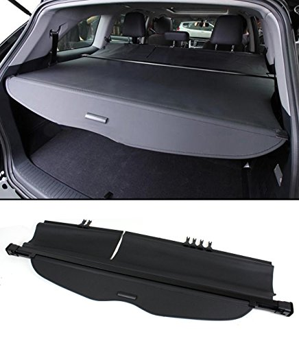 (Cuztom Tuning Fits for 2014-2018 Toyota Highlander OE Style Retractable Trunk Cargo Cover Luggage Shade - Black )