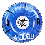 A-DUDU Snow Tube - Super Big 47 Inch Inflatable Snow Sled with Rapid Valves - Heavy Duty Inflatable Snow Tube Made by...
