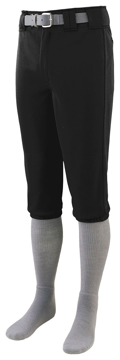 1453 Series Knee Length Baseball Pant - Youth BLACK XS Augusta Drop Ship AG1453