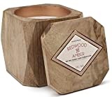 #1: Paddywax Woods Collection Scented Soy Wax Candle in Mango Wood, 12-Ounce, Redwood & Amber