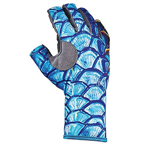 (Buff Pro Series Angler 3 Gloves, Tarpon Scales, S/M)