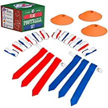 Flag Football Set for Kids - Flags, Belts & Cones - Set for Either 10 or 14 People!
