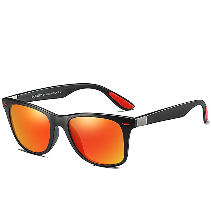 DUBERY 9 Colours Mens Sport Polarized Sunglasses Outdoor Driving Riding Glasses