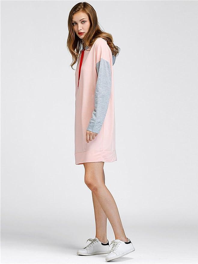 ac3e89278004 WanYang Donna Elegante E Moda Maglione Con Cappuccio Donne Vestito Felpa  Lungo Casuale Hoodies Sweatshirt  Amazon.it  Abbigliamento