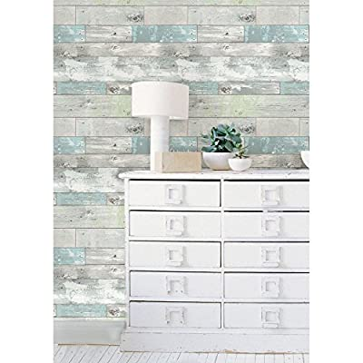 Brewster Beachwood Peel and Stick Wallpaper