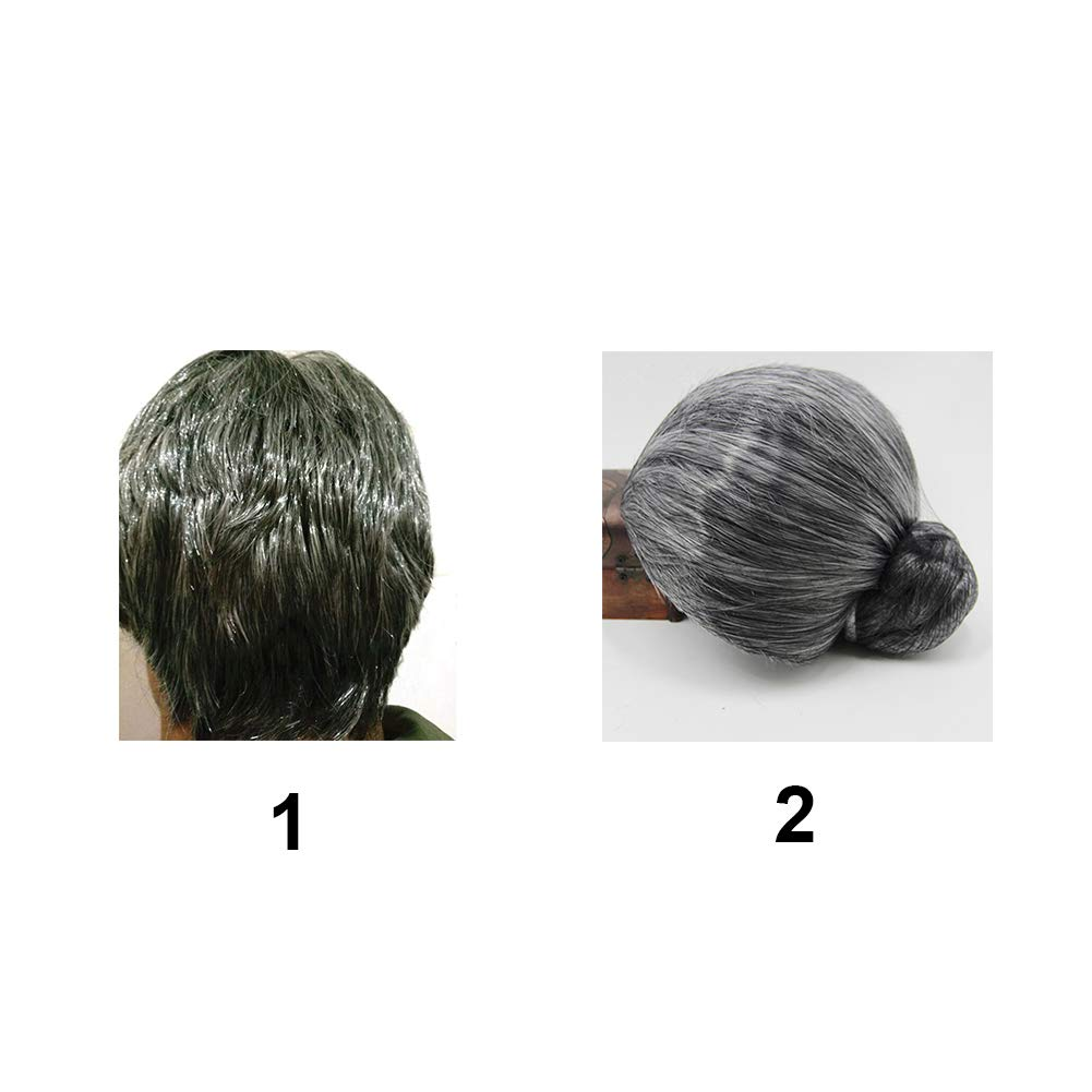 Amazon.com: cyclamen9 Old Lady Cosplay Grandmother Wig Cap,Granny Gray Old Lady Wig for Dress up Perform: Clothing
