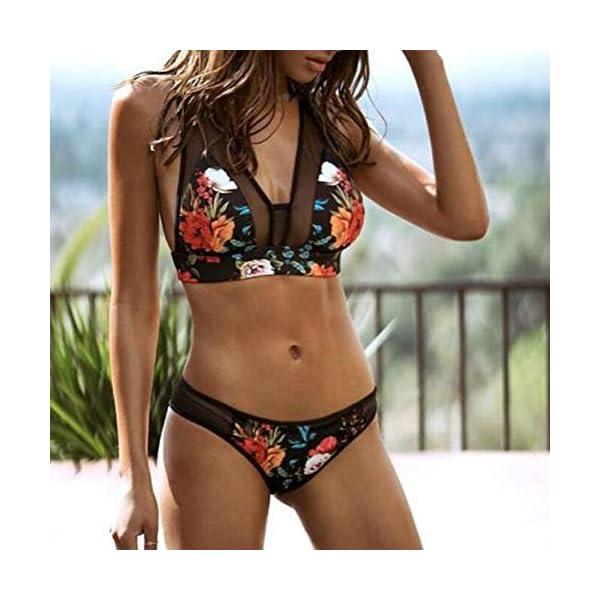 BHYDRY Donne Costume da Bagno Stampa Moda Push-up Imbottito Reggiseno Spiaggia Bikini Set 2 spesavip