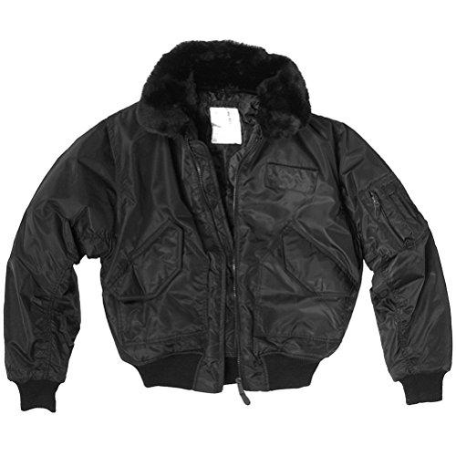 Coated Twill Jacket (Mil-Tec CWU-45P Jacket with Fur Collar Black size M)