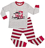 ATTRACO Boys Long Sleeve Pajama Sets 100% Cotton Striped 2 PCS Pjs for Kids 6T
