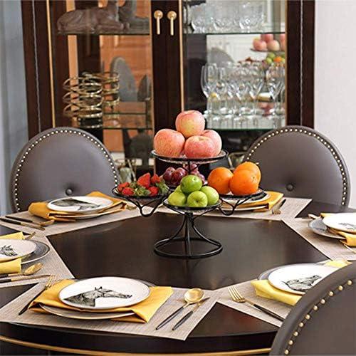YYH Assiette De Fruits, Assiette De Fruits Créative Salon, Plateau De Table Basse, Style Européen Multi-Fonctionnel Multi-Couche Nordique Moderne.