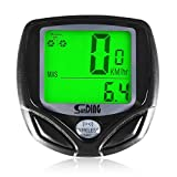 Beschoi Wireless Cycling Computer for Bike Automatic Wake-up Backlight for Tracking Riding Speed and Distance, Waterproof