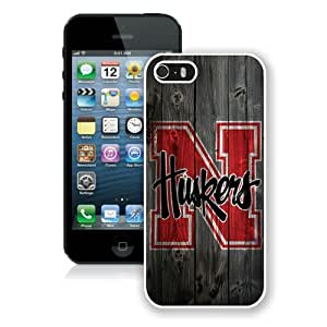 Custom Best Design Ncaa Big Ten Conference Football Nebraska Cornhuskers 12 White iPhone 5 5S Case