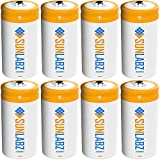 SunLabz C 3000mAh NiCD Rechargeable Batteries (8 Pack)