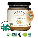 GREENBOW Organic Honey with Turmeric - 100% USDA Certified Organic, Gluten Free, Non-GMO Organic Turmeric Honey - Highest Quality Whole Food Organic Turmeric Honey – 11oz (311g)