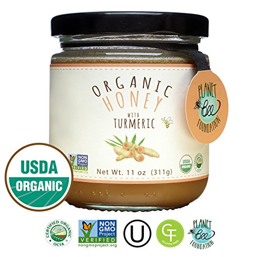 GREENBOW Organic Honey with Turmeric - 100% USDA Certified Organic, Gluten Free, Non-GMO Organic Turmeric Honey - Highest Quality Whole Food Organic Turmeric Honey – 11oz (311g) by Greenbow