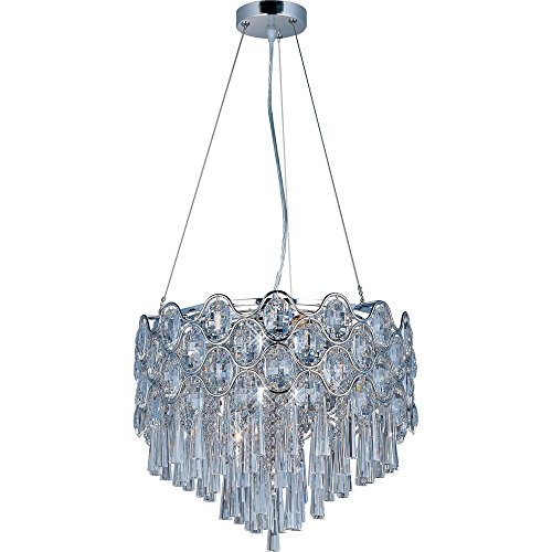 Maxim 39924BCPC Jewel 12-Light Pendant, Polished Chrome Finish, Beveled Crystal Glass, G9 Xenon Xenon Bulb , 100W Max., Wet Safety Rating, Standard Dimmable, Glass Shade Material, 1150 Rated - Pendant Jewel Light