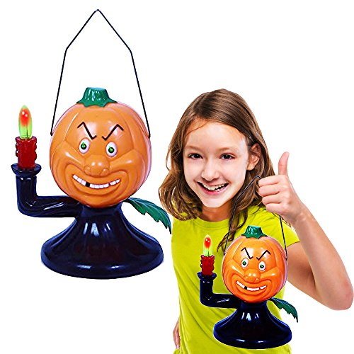 Toy Cubby Halloween Pumpkin Lantern Battery Operated Light-Up Party Decoration Pumpkin Themed Lamp - Holiday Skull Skeleton Skull Light and Sound Ghost.