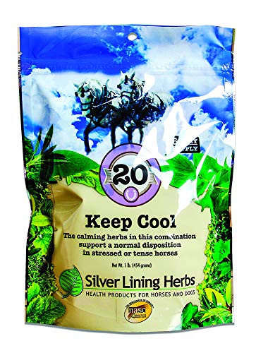 Silver Lining Herbs - Keep Cool   Supports Calming Anxious and Excitable Horses      Helps Maintain Contentment and Relieve Stress    1 Pound Bag    Keep Cool Equine Calmer is Made In USA by Silver Lining Herbs
