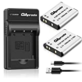 OAproda 2 Pack EN-EL19 Battery and Rapid USB Charger for Nikon Coolpix S32, S33,S100, S2800, S3100, S3200, S3300, S3500, S3600, S3700, S4100, S4200, S4300,S5200,S5300,S6500, S6800,S7000 Digital Camera