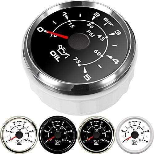 IUEFINUEN 52mm oil pressure gauge 0-150 PSI 0-10 Bar 9-32V fuel pressure testers digital auto gauge fuel meter ide combustible (Color : BS 0 5 Bar) Ws 0 5 Bar