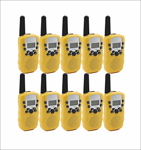 Bobela T388 2-3 Mile Range 22-Channel Reliable Talkabout Radios Wireless Durable UHF FRS-GMRS Interphone with Fashion Design for Students Birthday Halloween or Xmas Present (Yellow 5 (Halloween Information For Students)