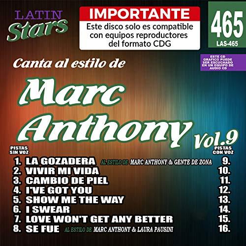 Karaoke Latin Stars 465 Marc Anthony Vol. 9 - Importante: Este disco solo es compatible con reproductores del formato CDG