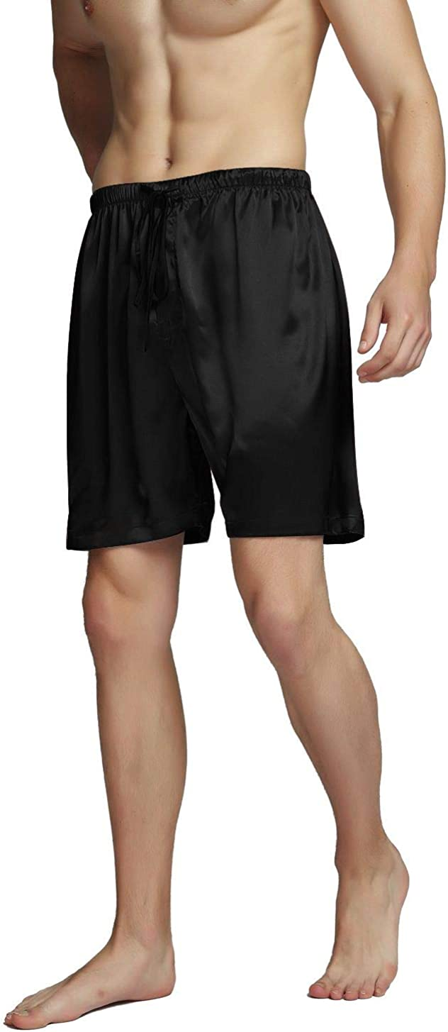 SIHA Men's Satin Pajama Boxer Shorts & Sleep Shorts
