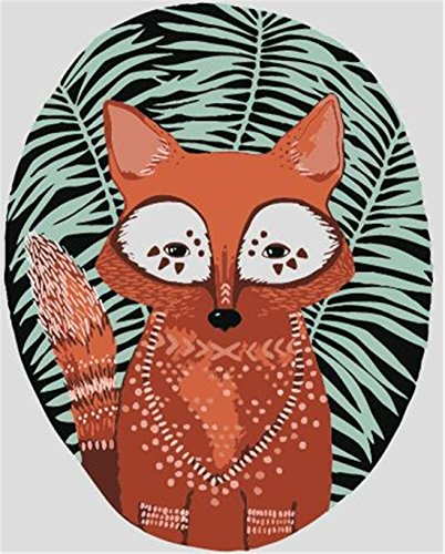Little Fox Paint By Numbers Kits For Adult Kids DIY Painting By Number For Home Wall Decor,16