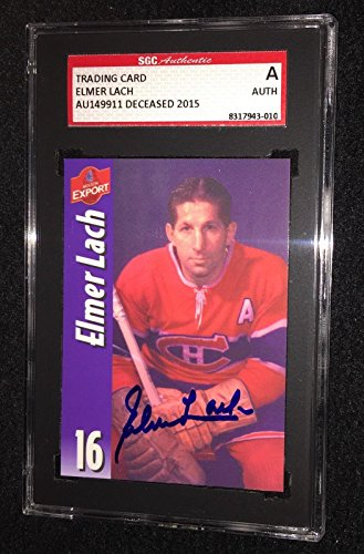 elmer-lach-signed-molson-export-card-sgc-authenticated-montreal-canadiens-autographed-hockey-cards