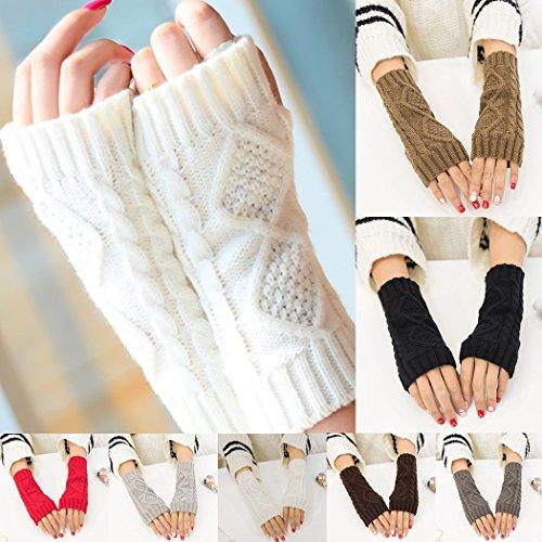 MIOIM 柔かい 手袋 レディース ニット アームカバー 半指 スマホ対応 あったか 便利 ふわふわ もこもこ